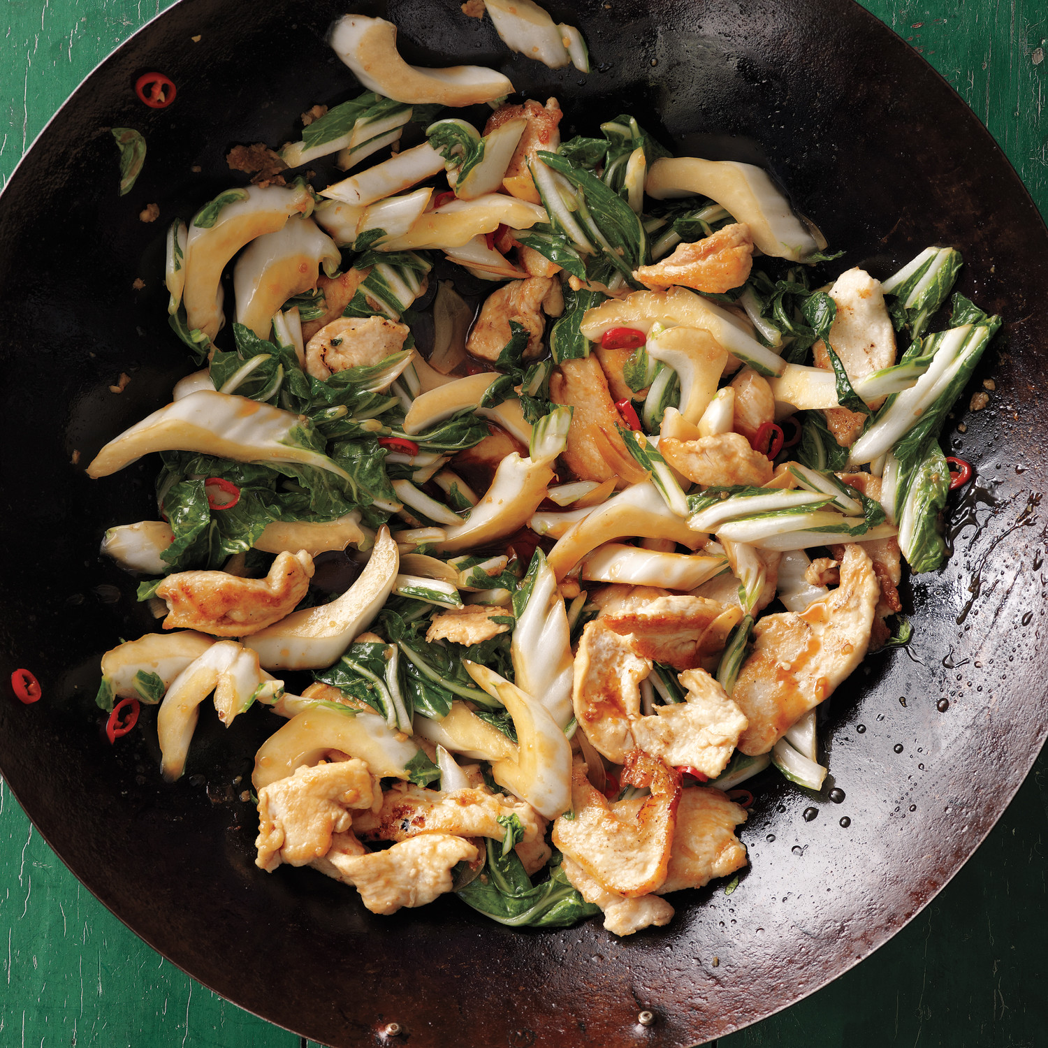 Stir Fried Chicken With Bok Choy Recipe Martha Stewart