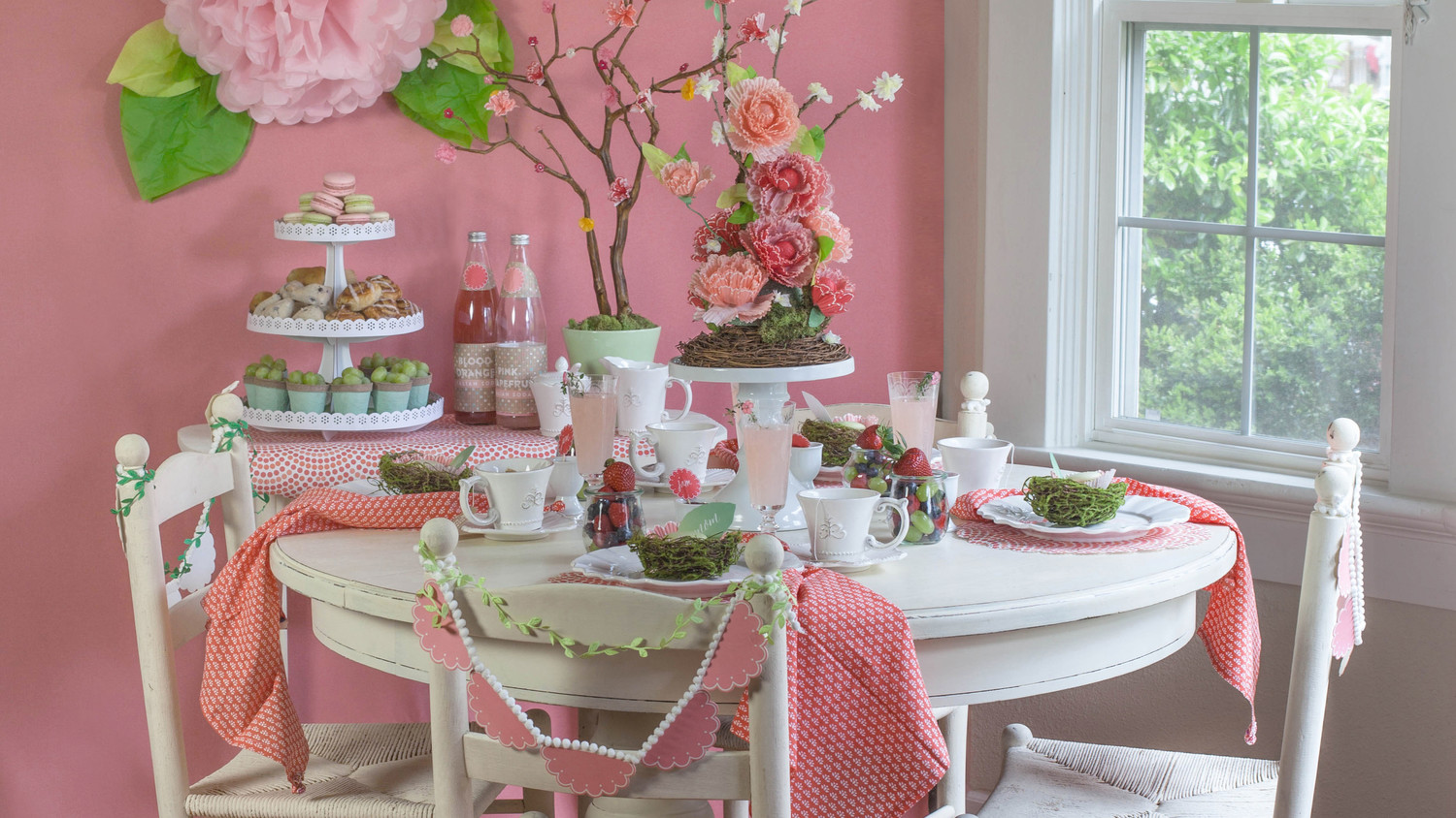Host A Pretty In Pink Mother S Day Brunch Martha Stewart