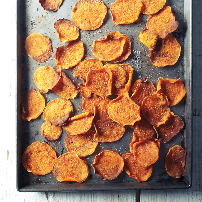 Baked Sweet Potato Chips Recipe | Martha Stewart