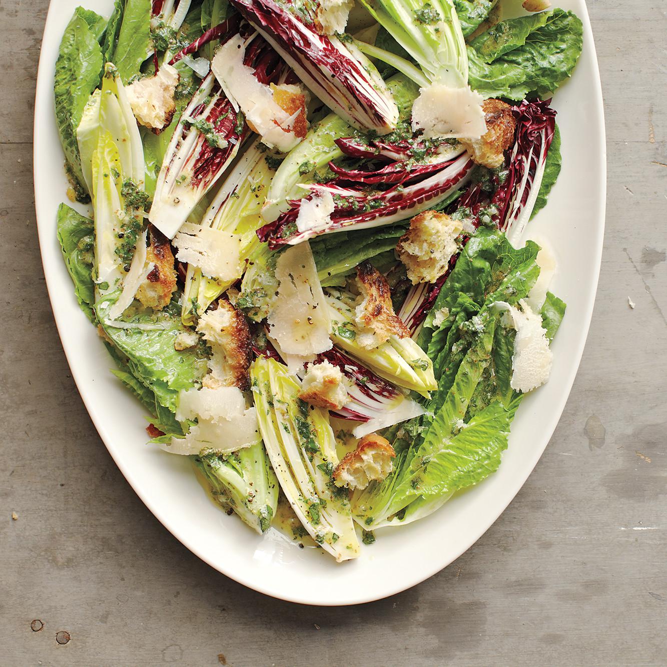 Romaine Radicchio And Endive Salad