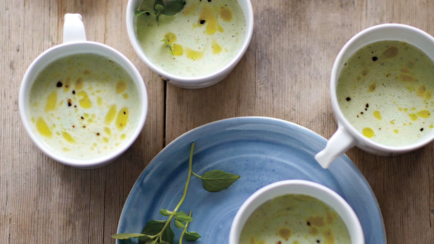 Cucumber-Mint Buttermilk Soup Recipe | Martha Stewart