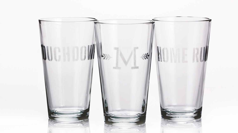 Etched Pint Glasses Martha Stewart