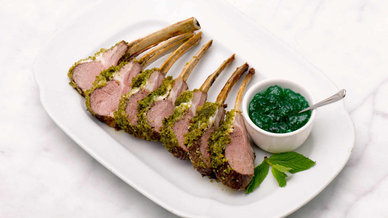 Image result for lamb with mint jelly