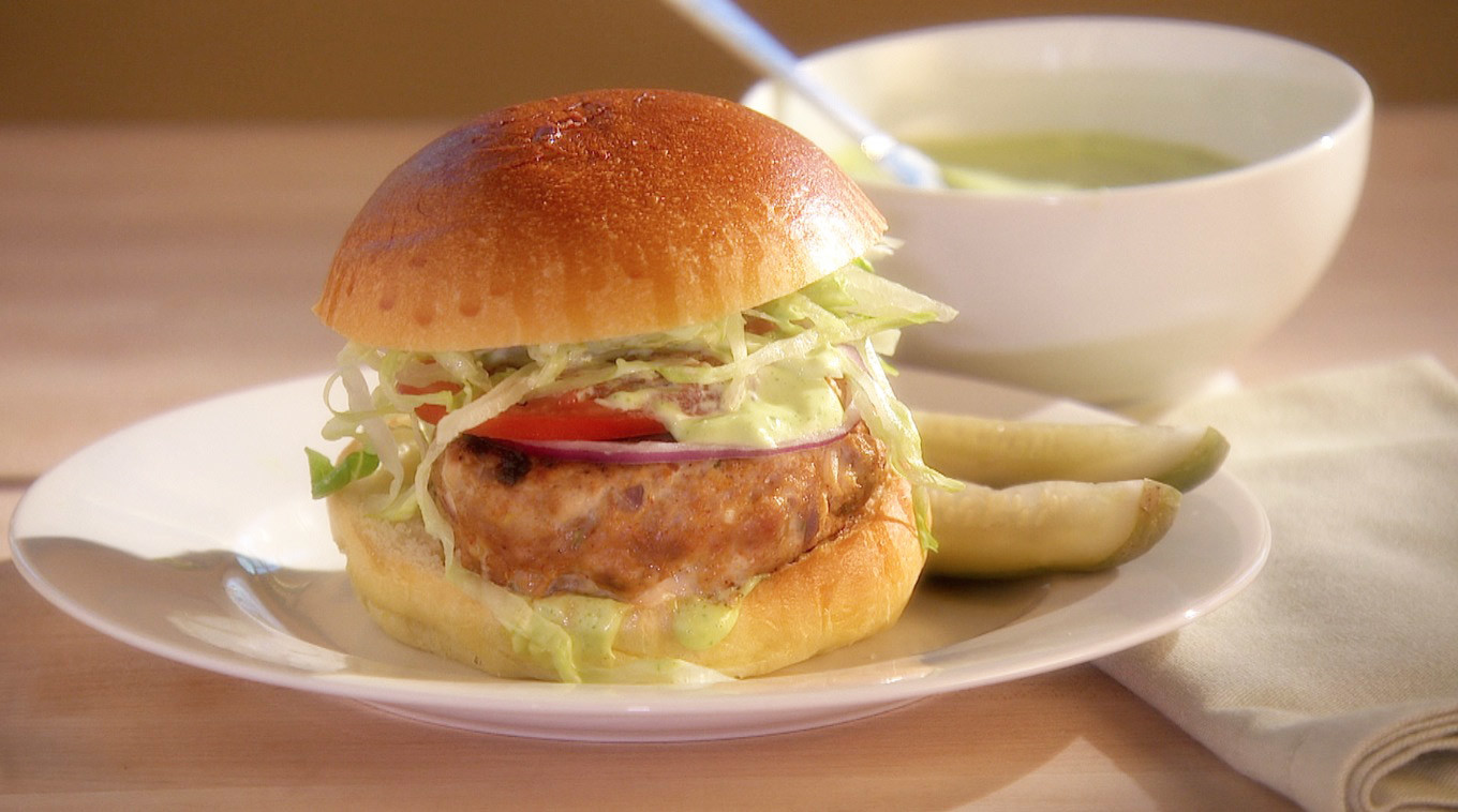 Video: Turkey Burgers with Cilantro-Lime Mayonnaise ...