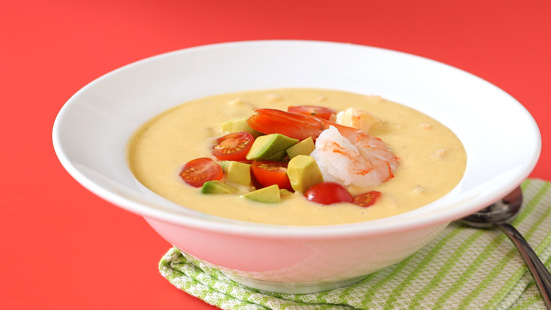 Video: No-Cook Southwestern Corn & Shrimp Soup | Martha Stewart