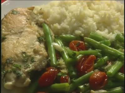 ... : How to Make Chicken and Vegetable Saute with Rice | Martha Stewart