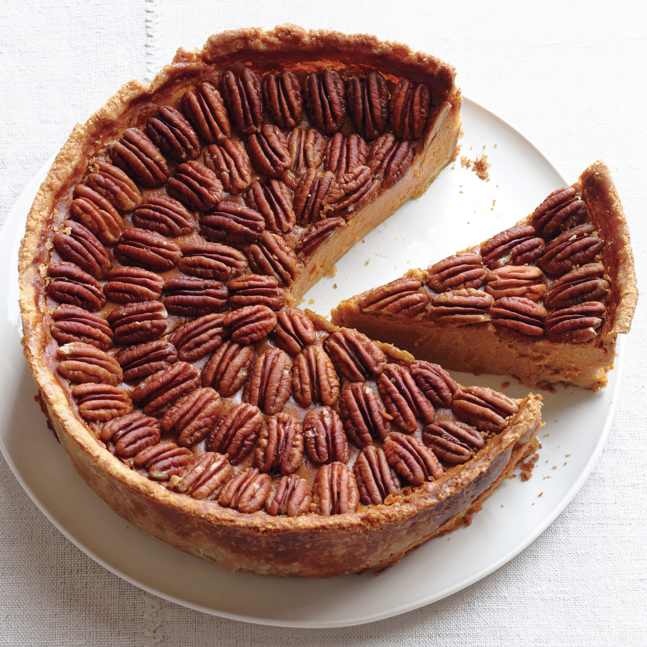 Mile High Pumpkin Pecan Pie