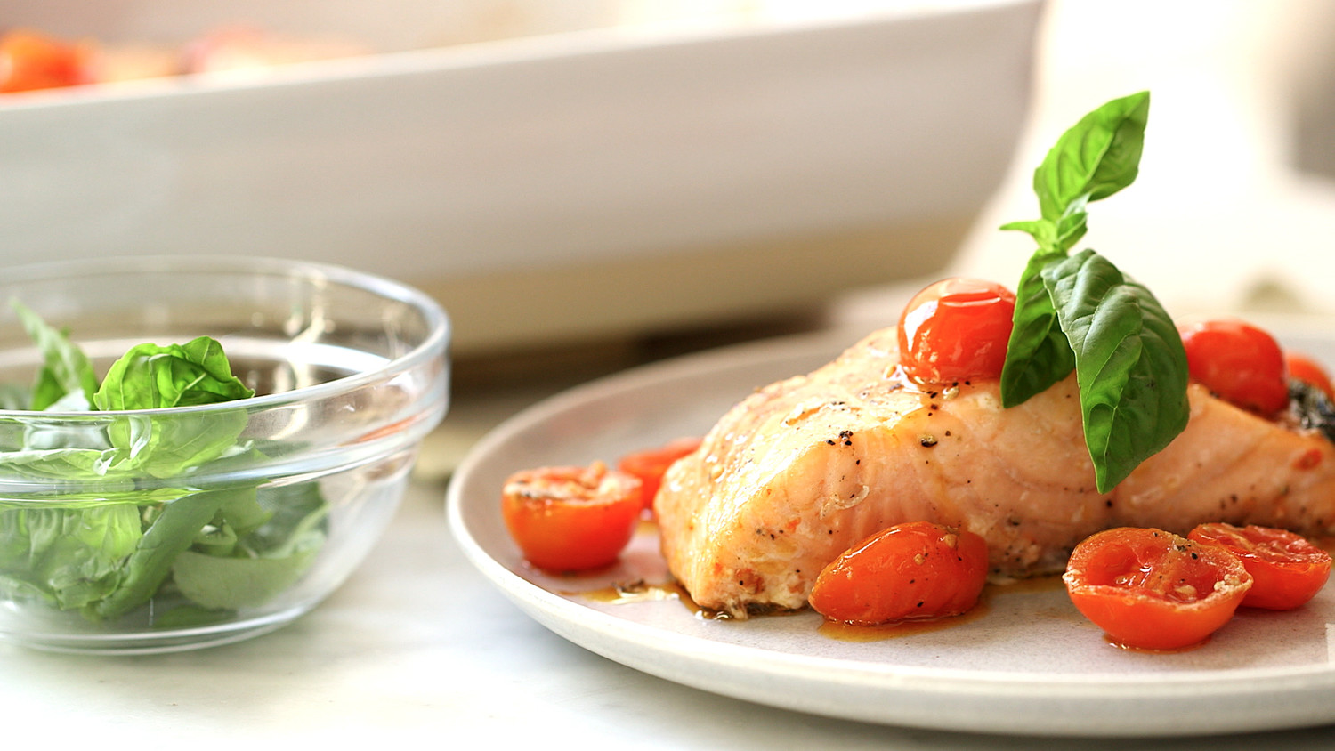 Video: Slow-Baked Salmon and Cherry Tomatoes | Martha Stewart