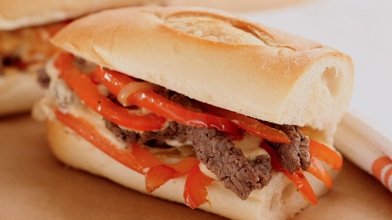 Video: Cheese Steak with Softened Peppers and Onions ...