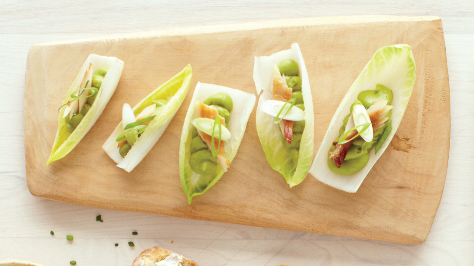 Smoked Trout and Avocado Mousse in Endive