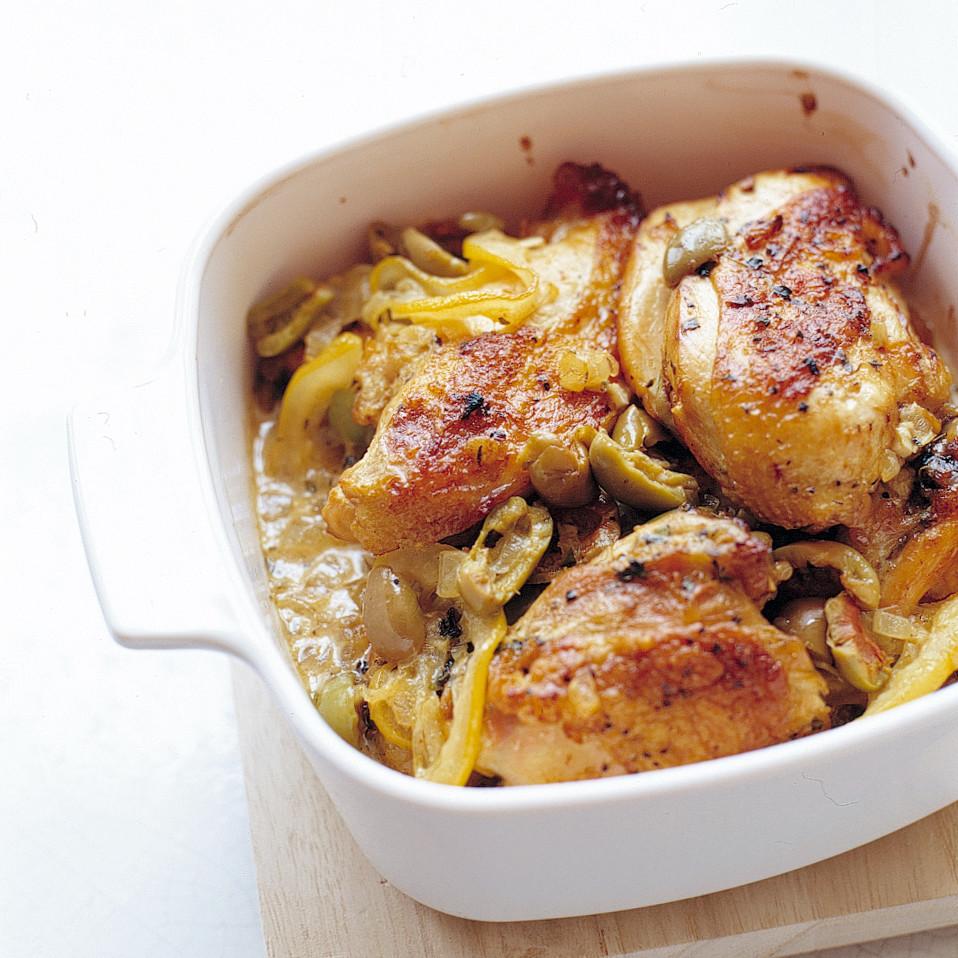 Lemon Chicken Mediterranean Style: Lemon And Olive Chicken