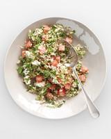watermelon tabbouleh dish