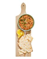 salmon rillettes with matzo