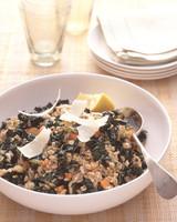 Savory Oat Groats and Kale