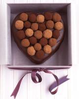 sacher torte heart with truffle top