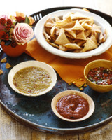 Salsa Trio and Homemade Tortilla Chips