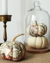 The Secret to These Pretty Marbleized Pumpkins? Nail Polish!