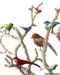 Glitter Bird Centerpiece