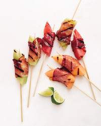 Perfect Bite: Grilled Prosciutto-Wrapped Melon