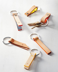 Leather-Strap Key Fob