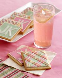 pink lemonade plaid cookies