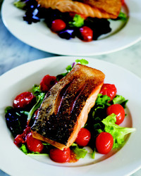 Curtis Stone's Crispy-Skin Salmon Salad with Roasted Cherry Tomatoes
