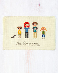 Try This: A Cross-Stitch Family Portrait