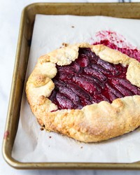 A Plump Plum Galette for Two