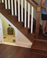 See How This Woman Built a Tiny Room Under the Stairs For Her Dog