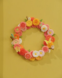 Clay Floral Wreath