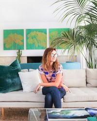 A Look at Kelly Oxford's Quirky Open-Plan Living Room