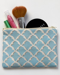 Stenciled Makeup Pouches