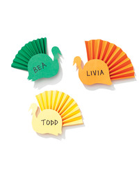 Gobble, Gobble: Colorful Turkey Place Cards