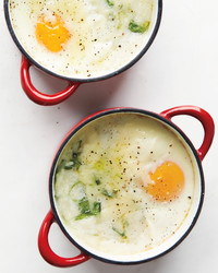 Baked Eggs and Grits