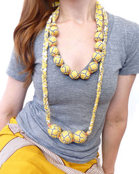 A DIY Statement Necklace That Wows