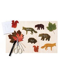 Too Cute to Be-Leaf: Animal Place Cards Using Fall Foliage