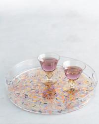 Confetti-Decorated Party Tray