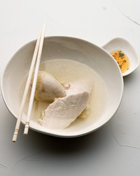 steamed chicken pieces