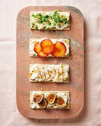 sweet and savory tartines