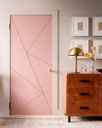Wow Your House Guests With This Brass-Studded Door