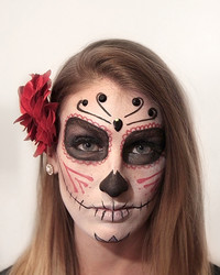 Day of the Dead Sugar Skull Makeup Tutorial by Chelsea Rachel