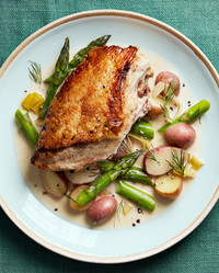creamy asparagus chicken
