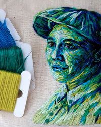 This Embroidery is Bright, Colorful, and Brings Portraits to Life