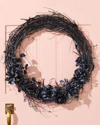 DIY a Black Door Wreath for Halloween
