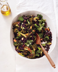 Black Rice and Broccoli with Almonds