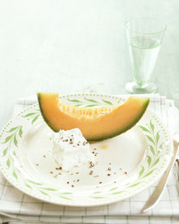 Cantaloupe Wedges with Feta Cheese