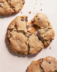 Caramel Stuffed Chocolate Chip Cookies