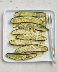 roasted cucumbers with horseradish