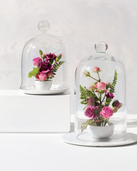 A New Floral Arrangement Idea: Garden Cloches
