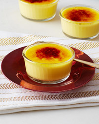 bruleed saffron custards
